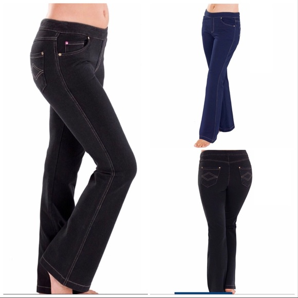 f05e9776f3a NWT Boot Cut Jeggings! Choice of Black or Indigo. Boutique. Pajama Jeans
